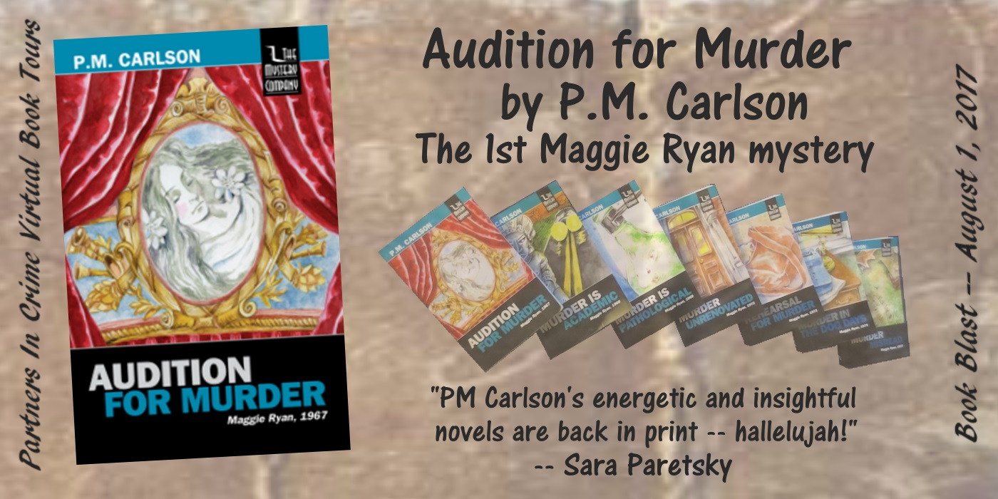 Audition for Murder by P.M. Carlson Book Blast Banner
